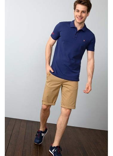 U.S. Polo Assn. Slim Fit Polo Yaka Tişört Lacivert